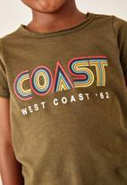 Flyersunion - West coast tee - olive slub