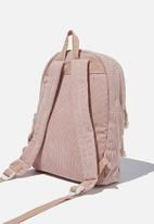 Cotton On - Back to school cord backpack - pink
