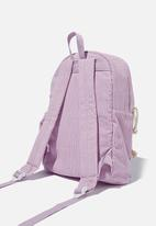Cotton On - Back to school cord backpack - pale violet