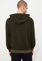 Trendyol - Utility pocket hoodie - khaki