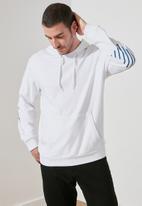 Trendyol - Back printed hoodie - white