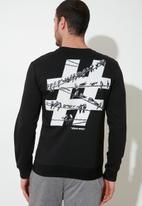 Trendyol - Hashtag print sweater - black