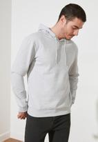 Trendyol - Back printed hoodie - grey