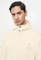 G-Star RAW - Sleeve graphic hooded sweat  - ecru