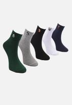 Trendyol - Embroidered 5 pack socks - multi
