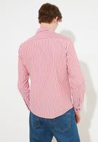 Trendyol - Stripe long sleeve shirt - red & white