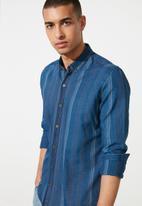 Trendyol - Patterned long sleeve shirt - navy