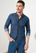 Trendyol - Stripe long sleeve shirt - navy