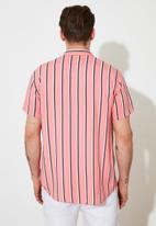 Trendyol - Stripe short sleeve shirt - pink