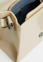 Seduction - Patent pu tote bag - beige