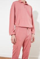 Trendyol - Basic sweatsuit - rose