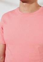 Trendyol - Plain short sleeve tee - rose