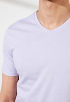 Trendyol - Plain short sleeve tee - lilac