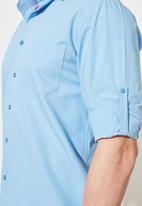 Trendyol - Roll up chest pocket shirt - blue