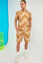 Trendyol - Printed sweatsuit - camel