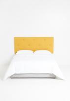 Sixth Floor - Surface button headboard - mustard