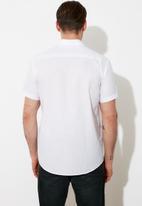 Trendyol - Plain short sleeve shirt - white