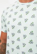 Trendyol - Short sleeve tee & shorts sleep set - mint