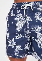 Trendyol - Printed swim shorts - navy