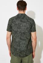 Trendyol - Printed short sleeve shirt - khaki