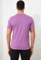 Trendyol - Plain short sleeve tee - purple