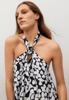 MANGO - Dress milan - white & black