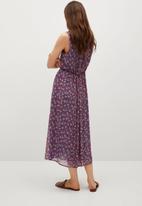 MANGO - Dress mina - pink & blue
