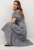 MANGO - Dress tania - black & grey