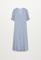 MANGO - Dress grape - blue