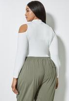 Superbalist - Cut out detail bodysuit - milk