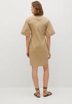 MANGO - Dresss olomun - light pastel brown