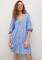 MANGO - Dress falcon - blue