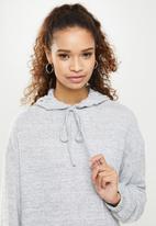 Blake - Cut and sew hoodie dress - grey