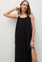 MANGO - Dress melon - black