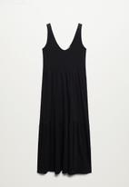 MANGO - Dress masito - black