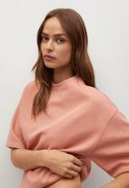 MANGO - Sweatshirt fakir - light pastel pink