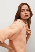 MANGO - Dress kork - light pastel orange