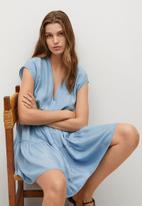 MANGO - Dress siren - blue