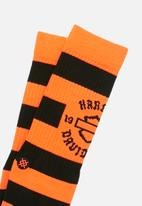 Stance Socks - Harley sprint socks - orange & black
