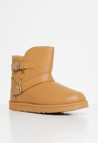 Jada - Faux fur lining ankle boot - camel