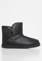 Jada - Faux fur lining ankle boot - black