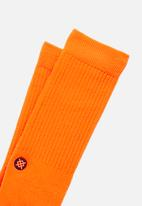 Stance Socks - Iconnoo socks - neon orange