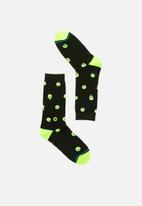Stance Socks - Skully socks - black