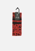 Stance Socks - Jjf voyage socks - red