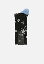 Stance Socks - Floral dive socks - black