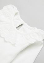 POP CANDY - Girls top with embroidery - off white