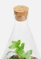 H&S - Natural stones glass pot 1 - green