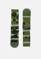 Stance Socks - Berner socks - olive