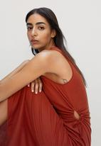 MANGO - Dress gabi - rust
