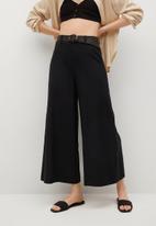 MANGO - Trousers cel - black